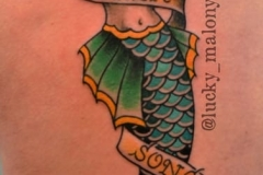 Traditional Mermaid Tattoo by Lucky Malony