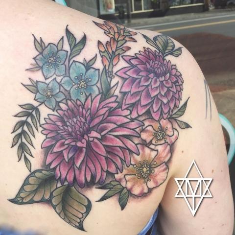 Botanical floral tattoo artists anatomy tattoo ne portland oregon izmirmasajfo