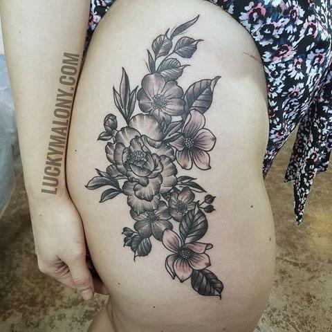 Botanical & Floral Tattoo Artists | Anatomy Tattoo | NE ... Neo Traditional Rose Tattoos
