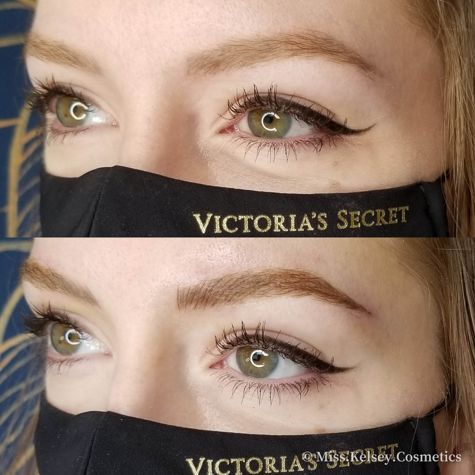 Combo Brows, before on top after on bottom