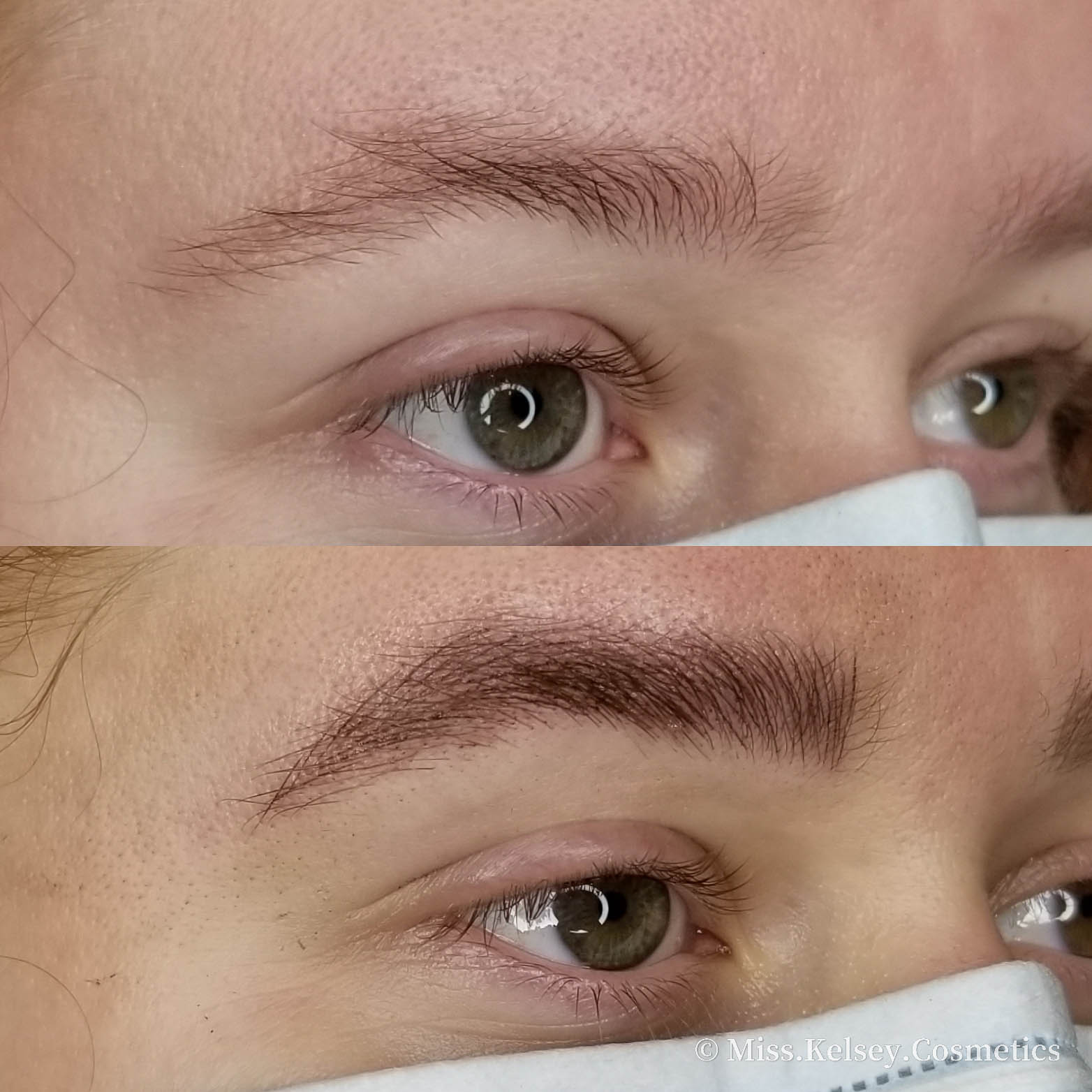 Microblading Before on Top, After on Bottom